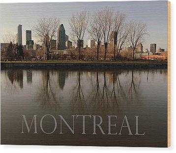 Montreal Wood Print
