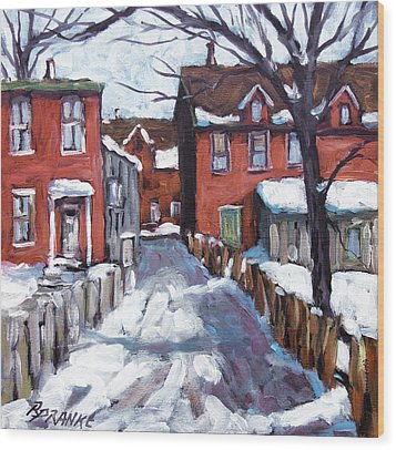 Montreal Scene 02 By Prankearts Wood Print by Richard T Pranke