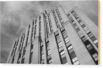 Wood Print featuring the photograph Montreal Skyscraper by Valentino Visentini