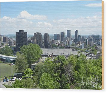 Montreal View From Mcgill Residences Wood Print
