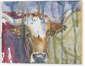 Montrose Longhorn Wood Print