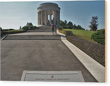 Wood Print featuring the photograph Montsec American Monument by Travel Pics