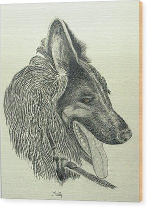 Monty Wood Print by Jim Justinick