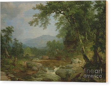 Monument Mountain - Berkshires Wood Print by Asher Brown Durand