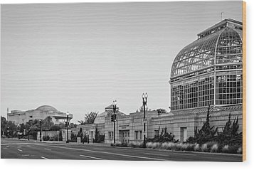 Wood Print featuring the photograph Monument Museum And Garden In Black And White by Greg Mimbs