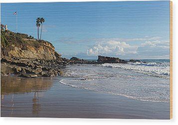Wood Print featuring the photograph Monument Point At Low Tide by Cliff Wassmann