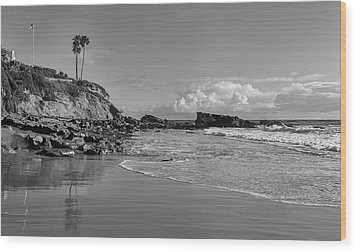 Wood Print featuring the photograph Monument Point Laguna Beach by Cliff Wassmann