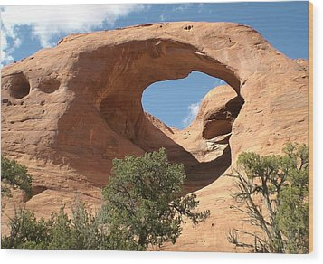 Wood Print featuring the photograph Monument Valley Arch by Fred Wilson