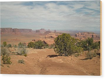 Wood Print featuring the photograph Monument Valley by Fred Wilson