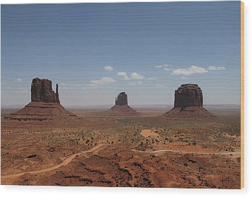 Wood Print featuring the photograph Monument Valley Navajo Park by Christopher Kirby