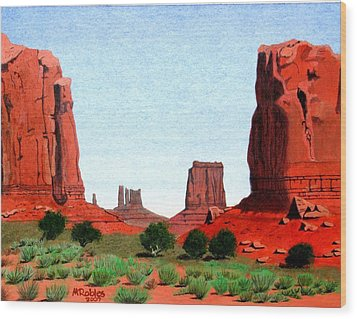 Monument Valley North Window Wood Print
