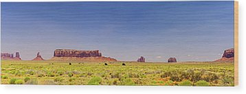 Monument Valley South View Wood Print