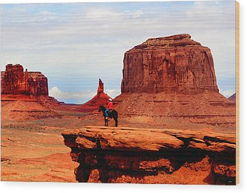 Monument Valley Wood Print by Tom Prendergast