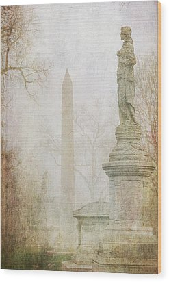 Wood Print featuring the photograph Monumental Fog by Heidi Hermes