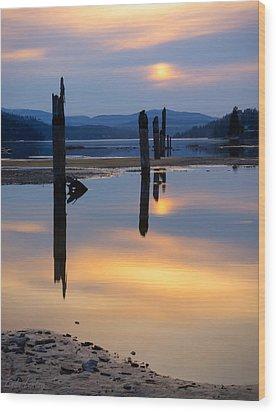 Mood On The Bay Wood Print by Idaho Scenic Images Linda Lantzy