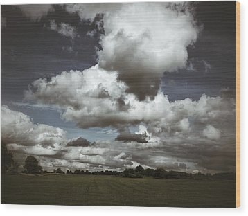 Moodiness In The Clouds Wood Print by Karen Stahlros