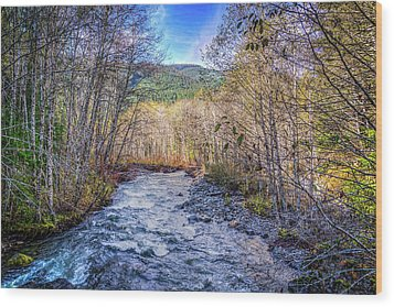 Wood Print featuring the photograph Moody Blue River by Spencer McDonald