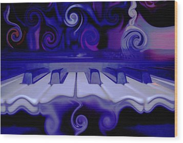 Moody Blues Wood Print by Linda Sannuti