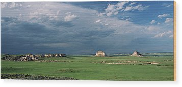 Moody-buttes Wood Print
