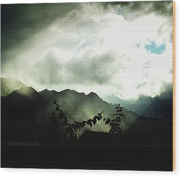 Wood Print featuring the photograph Moody Weather by Mimulux patricia no No