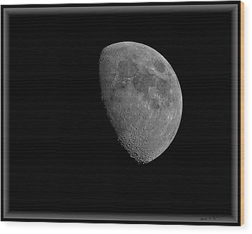 Wood Print featuring the photograph Moon 67 Percent Fr23 by Mark Myhaver