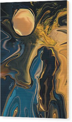 Moon And Fiance Wood Print by Rabi Khan