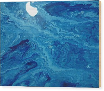 Moon Dancing With The Mountain Wood Print by Gregory Young