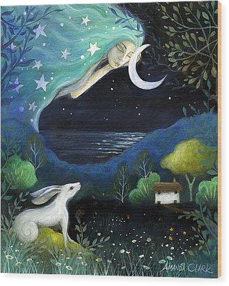 Moon Dream Wood Print by Amanda Clark
