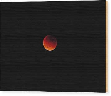 Wood Print featuring the photograph Moon Eclipse 9/27/2015 by K L Kingston