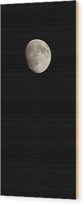 Moon Wood Print by Elizabeth Sullivan