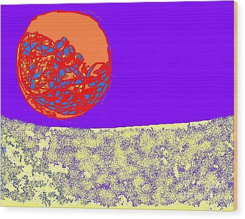 Moon Glow Wood Print by Beebe  Barksdale-Bruner
