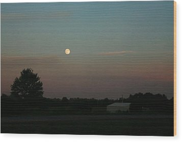 Wood Print featuring the photograph Moon Glow by Ellen O'Reilly