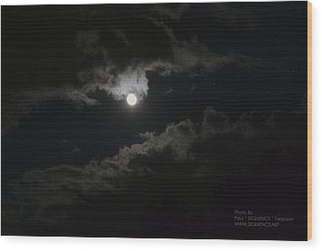 Moon In The Sky 2 Wood Print by Paul SEQUENCE Ferguson             sequence dot net