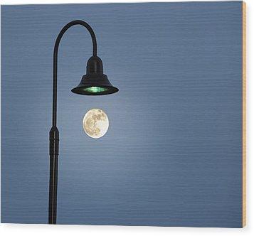 Moon Lighting Wood Print by Tom McCarthy