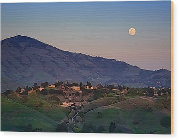 Moon Over Diablo Wood Print