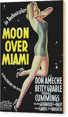 Moon Over Miami, Betty Grable, 1941 Wood Print by Everett