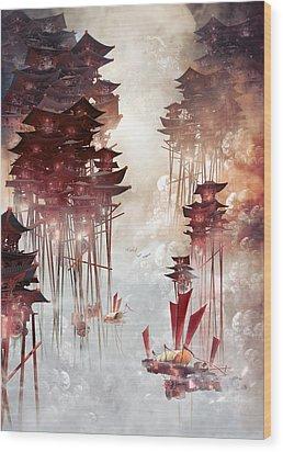 Moon Palace Wood Print