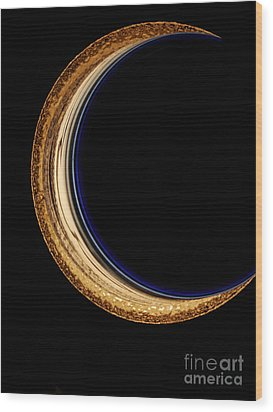Moon Phase Wood Print by Mark Holbrook