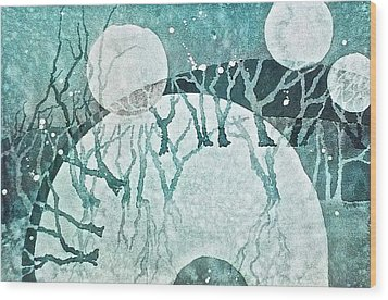 Moon Shadows Wood Print