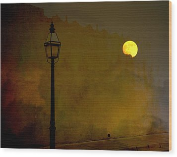 Moon Walker Wood Print