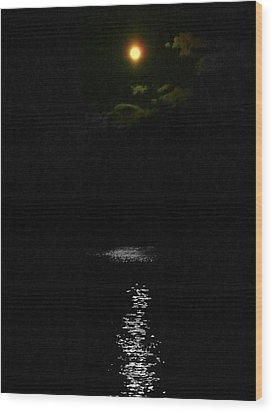 Moon Way Wood Print by Aron Chervin