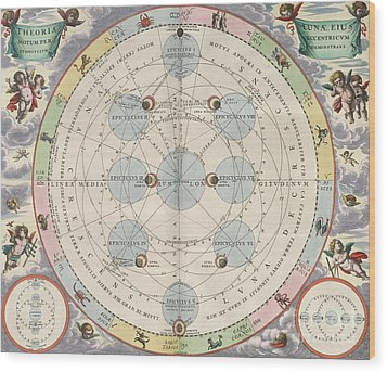 Moon With Epicycles Harmonia Wood Print by Science Source