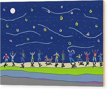 Moondance Wood Print by Van Winslow
