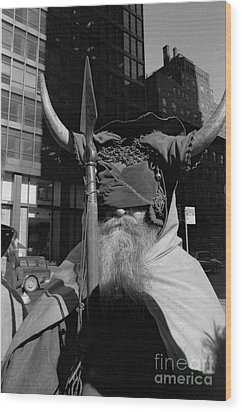 Moondog Nyc Tom Wurl Wood Print by Tom Wurl