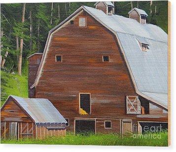 Mooney's Barn Wood Print