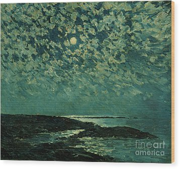 Moonlight Wood Print by Childe Hassam