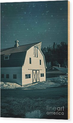 Wood Print featuring the photograph Moonlight In Vermont by Edward Fielding