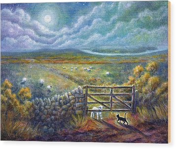 Moonlight Rendezvous Wood Print by Retta Stephenson