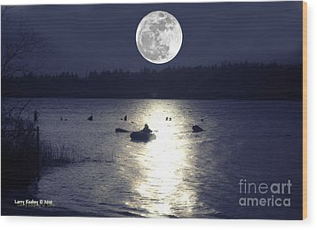 Moonlight Row Wood Print