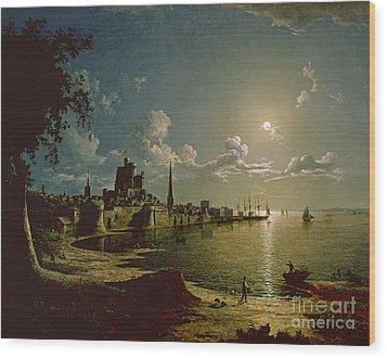 Moonlight Scene Wood Print by Sebastian Pether